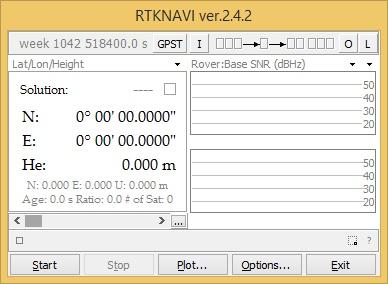 Рис. 5 Главное окно Программы RTKNAVI